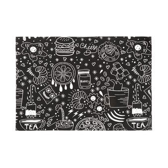 100% cotton table mat with food print