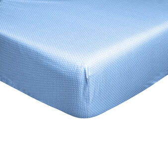 100% cotton percale polka dot fitted sheet
