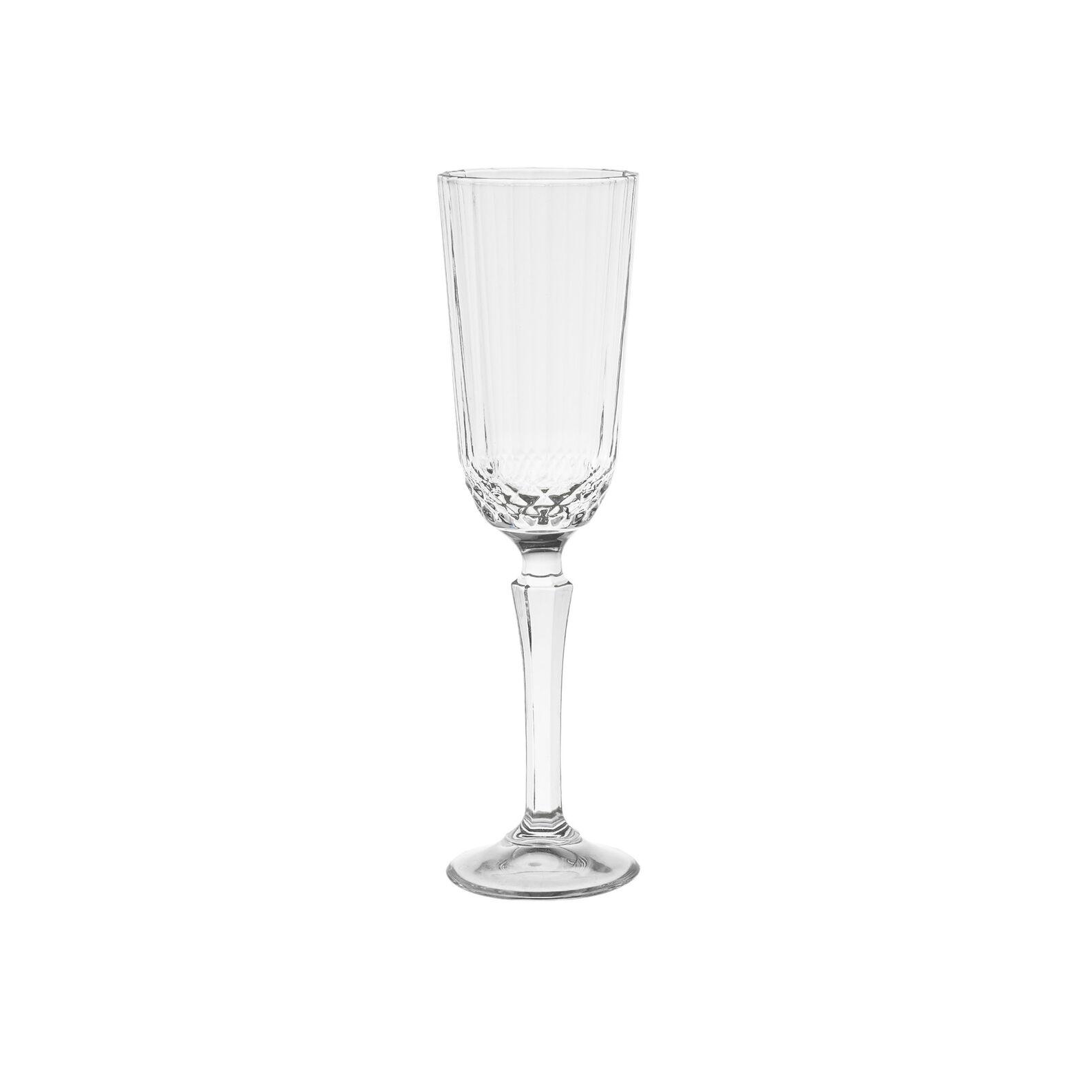 Flute vetro effetto diamantato