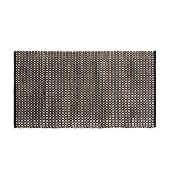 Woven cotton and jute mat