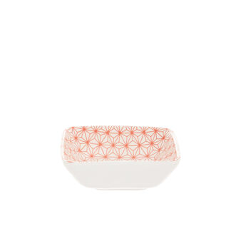 Small porcelain bowl with geometric motif