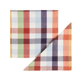 Two-pack check napkins in 100% cotton