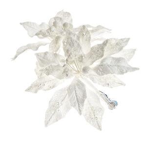 Poinsezia jewels clip decorata a mano
