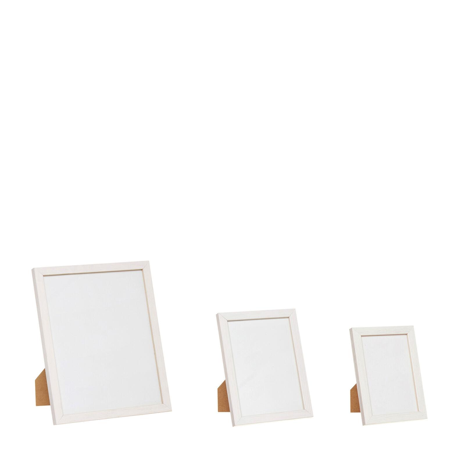 White wood photo frame