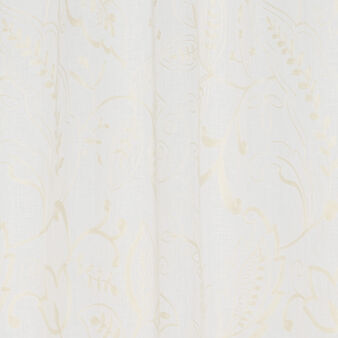 Curtain in 100% linen with floral fembroidery