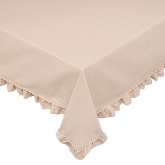 100% cotton tablecloth with frill