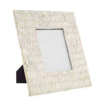 Photo frame with mother-of-pearl tiles