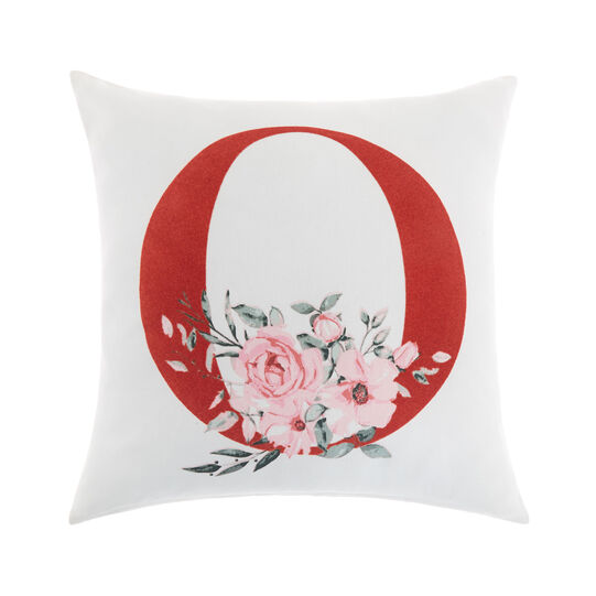 Cotton cushion cover with O print 45x45cm