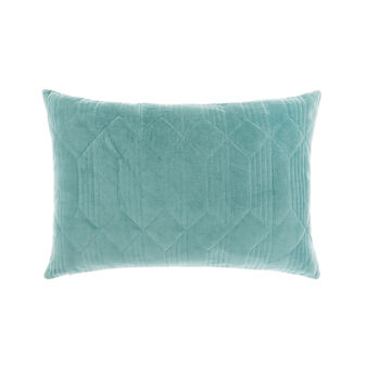 Quilted velvet cushion 35x55cm