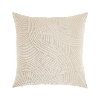 Jacquard cushion with circle motif 45x45cm