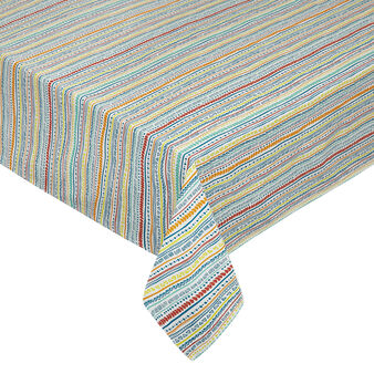 100% cotton tablecloth with striped print