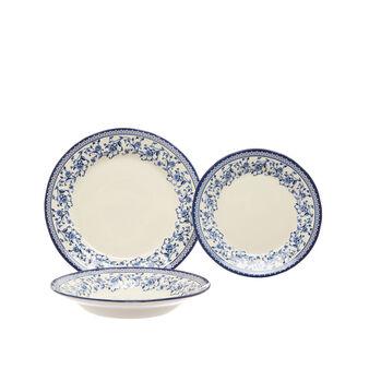 Set of 18 ceramic plates with decorated edge