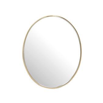 Round mirror in metal