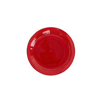 Red glass side plate