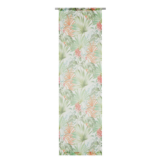 Small curtain with tropical leaves print