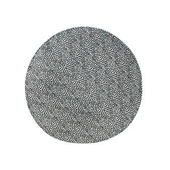 Piatto piano porcellana motivo geometrico