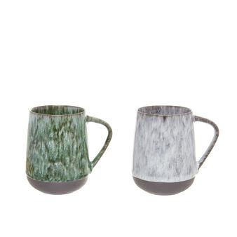 Antique effect porcelain mug