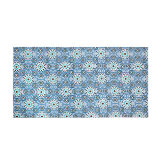 Mosaic print cotton beach towel