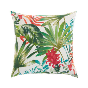 Cushion with tropical print