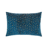 Velvet cushion with stars embroidery 35 x 55 cm