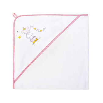 Towel with girl mouse hood in 100% cotton terry