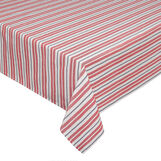 100% cotton striped tablecloth