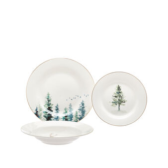 Set 18 piatti new bone china decoro alce