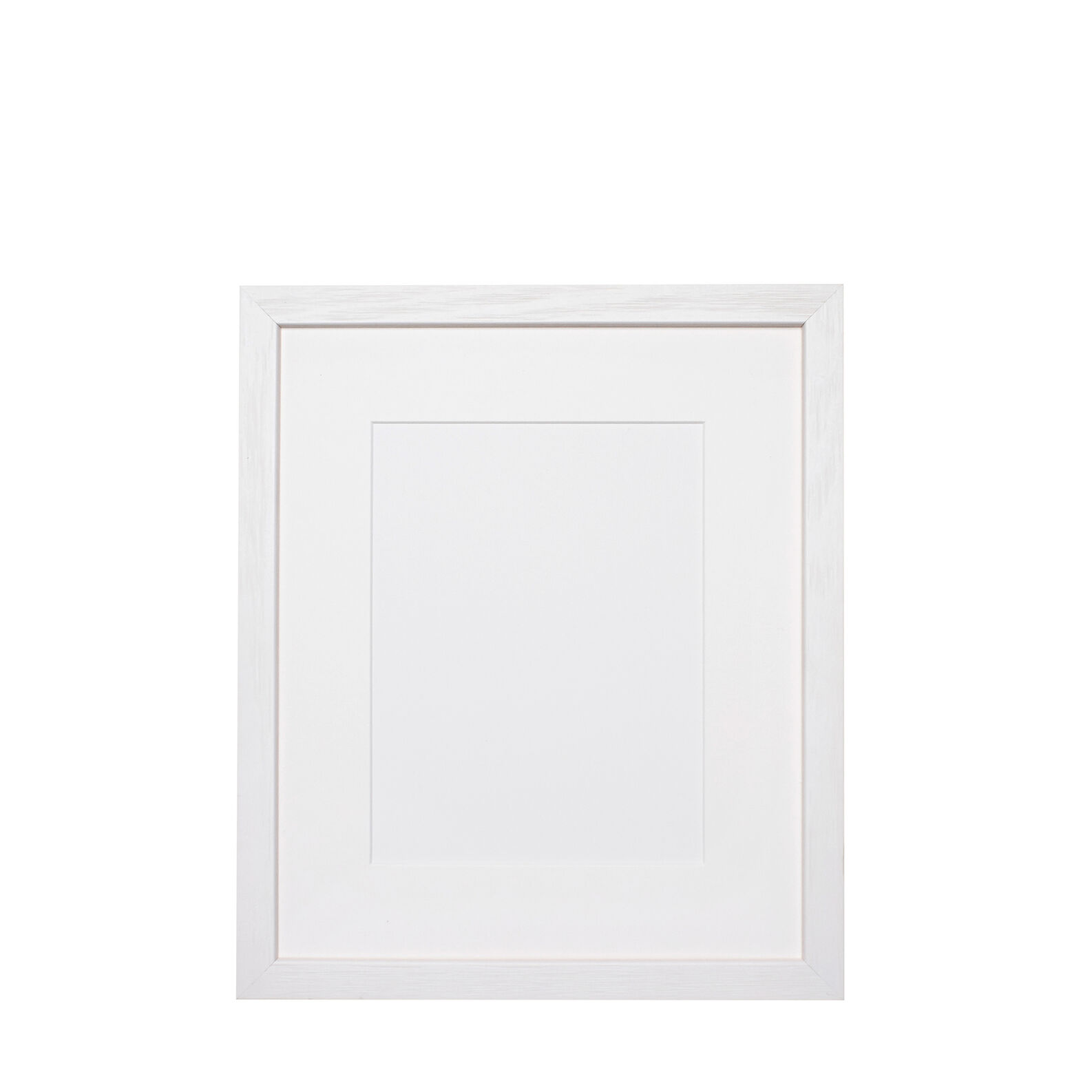 White wooden photo frame with picture mount