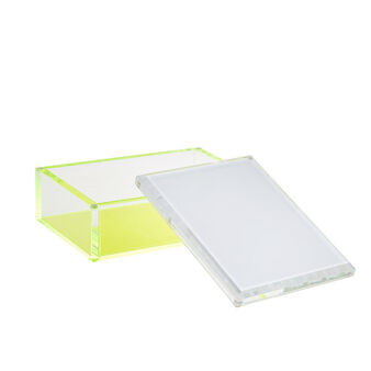 Plastic photo frame box with fluorescent details