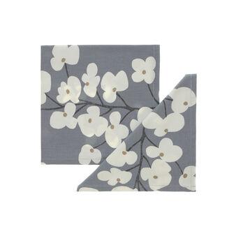 Coppia tovaglioli stampa fiori