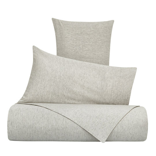 Mélange-effect washed linen blend duvet cover