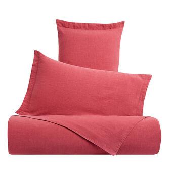 Solid colour linen and cotton duvet cover