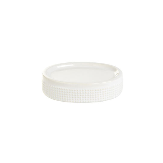 Dots ceramic soap dish