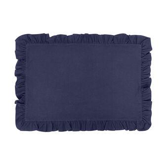Tovaglietta puro cotone garment washed bordo volant