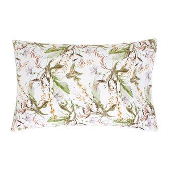 Cotton satin pillowcase with flower print