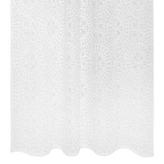 Devoré pattern mixed cotton curtain