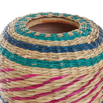 Vaso seagrass e bamboo intrecciato a mano