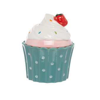 Cupcake-shaped ceramic jar