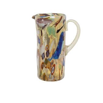 Murano Mosaic glass carafe