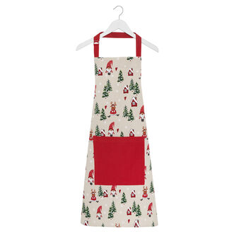 Grembiule da cucina puro cotone stampa natalizia