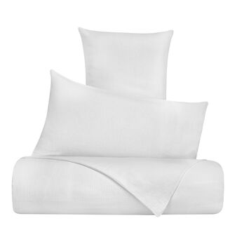Solid colour cotton gauze duvet cover