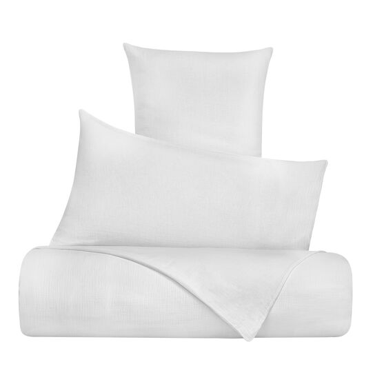 Solid colour pillowcase in cotton gauze
