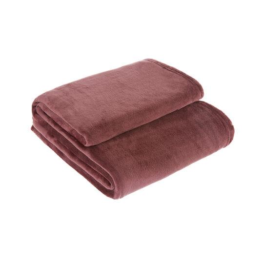 Solid colour fleece maxi throw