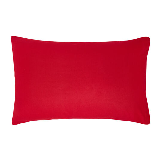 Solid colour warm cotton pillowcase