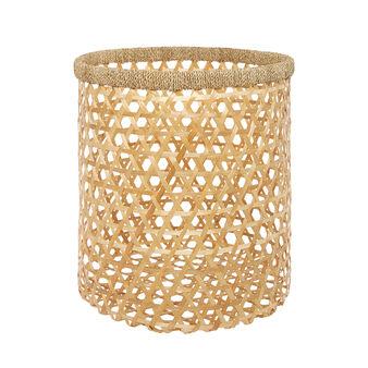 Cesto bamboo intrecciato a mano