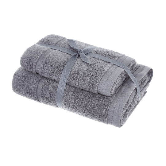 Set of solid colour cotton terry towels