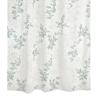 Curtain with laces in devoré floral fabric