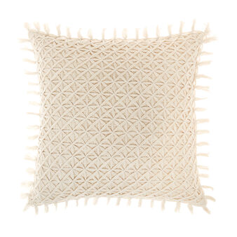 Cushion with raised weave