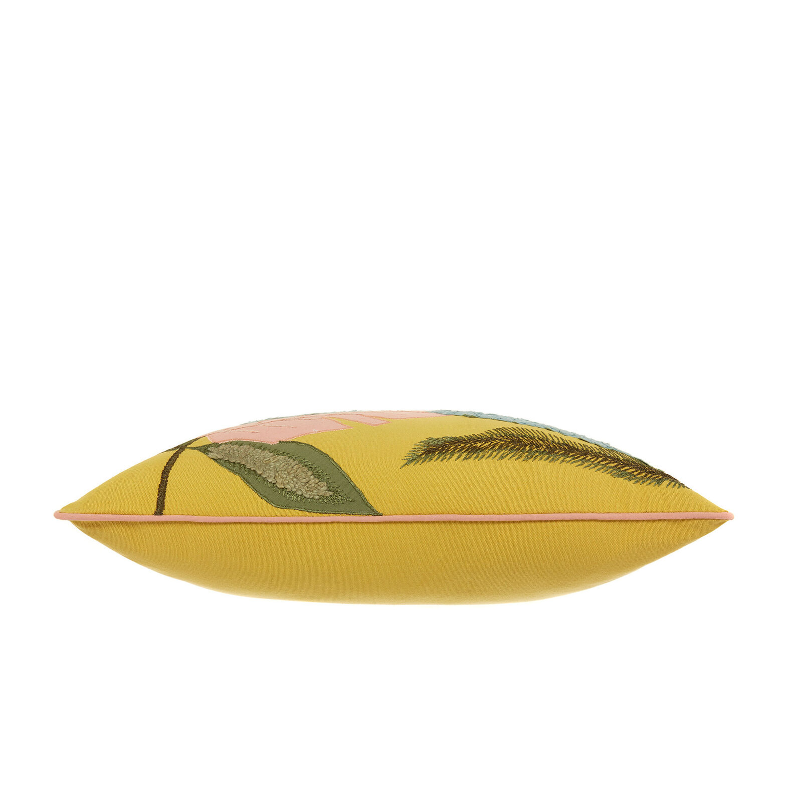 Cuscino ricamo foglie 45x45cm