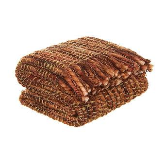 Plaid con frange tricot